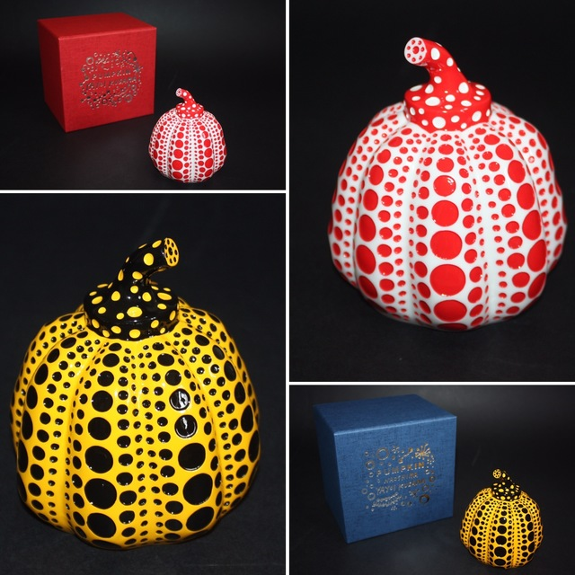Yayoi Kusama, 'Set of 2 pumpkins (Yellow and Red)', 2015, Lougher Contemporary