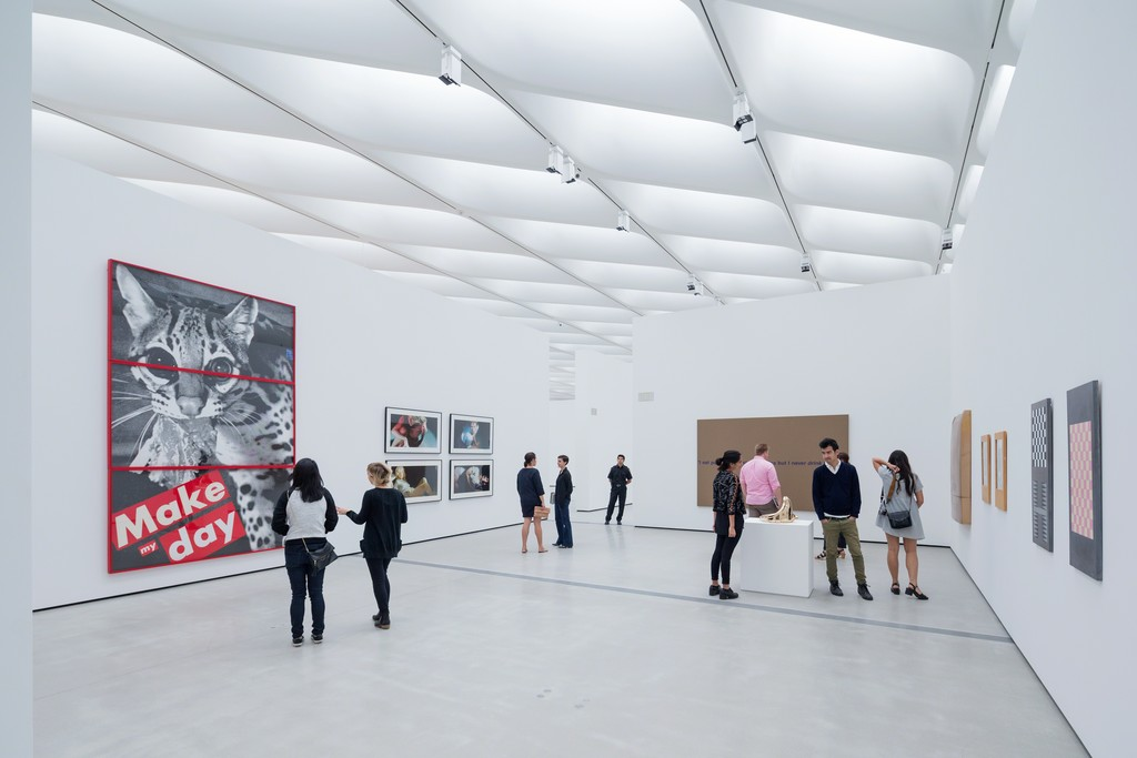 Installation of works by Barbara Kruger, Cindy Sherman, Richard Prince and Sherrie Levine in The Broad's third-floor galleries; photo by Iwan Baan, courtesy of The Broad and DIller Scofidio + Renfro