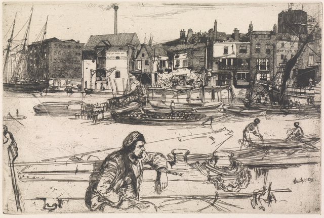 , 'Black Lion Wharf,' 1859, Clark Art Institute