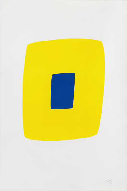 , 'Yellow with Dark Blue,' 1964-1965, Susan Sheehan Gallery