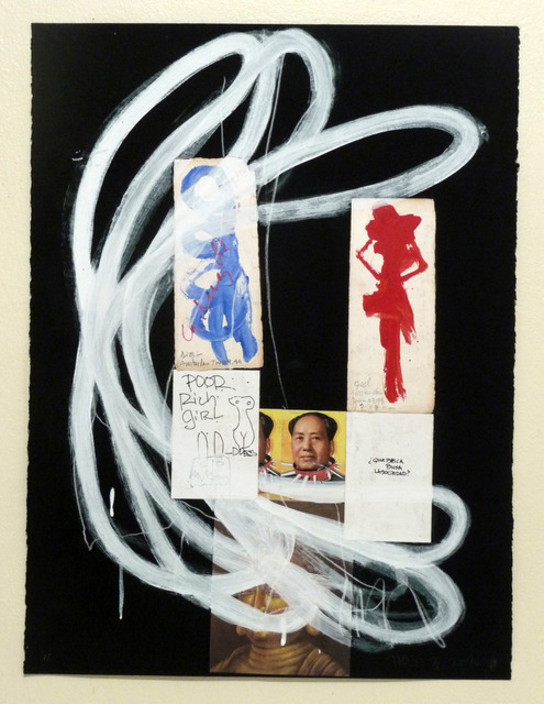 Raimundo Figueroa, 'La congelación de la idea ', 2012-2013, Drawing, Collage or other Work on Paper, Oil pastels + acrylic + wax pencil + graphite + collage elements on paper, Biaggi & Faure Fine Art