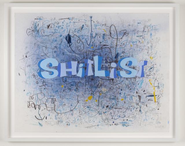 , 'Shitlist,' 2019, Joshua Liner Gallery