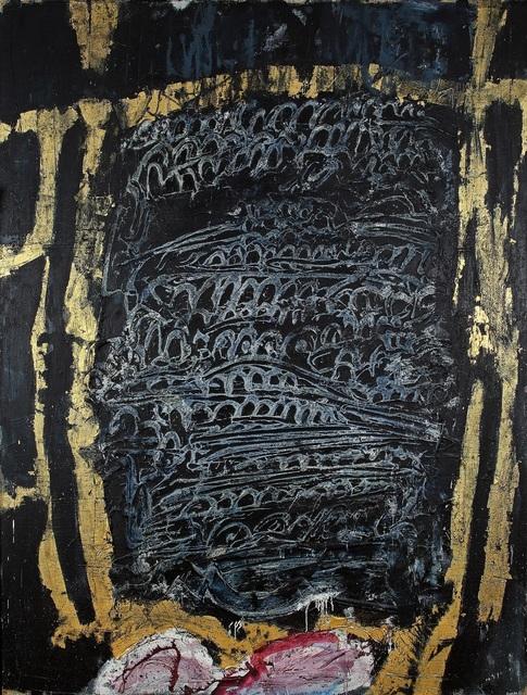 , 'Bleu marine aux traces dorées ,' 1961, Galerie F. Hessler
