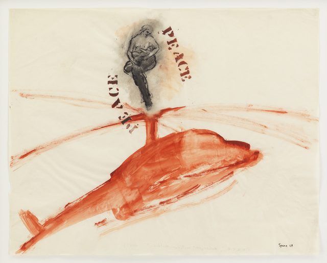 , 'P.E.A.C.E., Helicopter, Mother + Children,' 1968, Galerie Lelong & Co.
