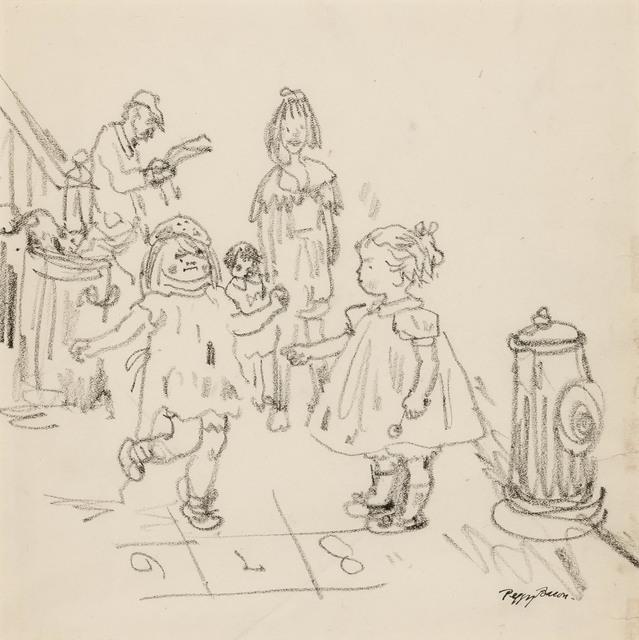 Peggy Bacon, 'Playing Hopscotch', Doyle