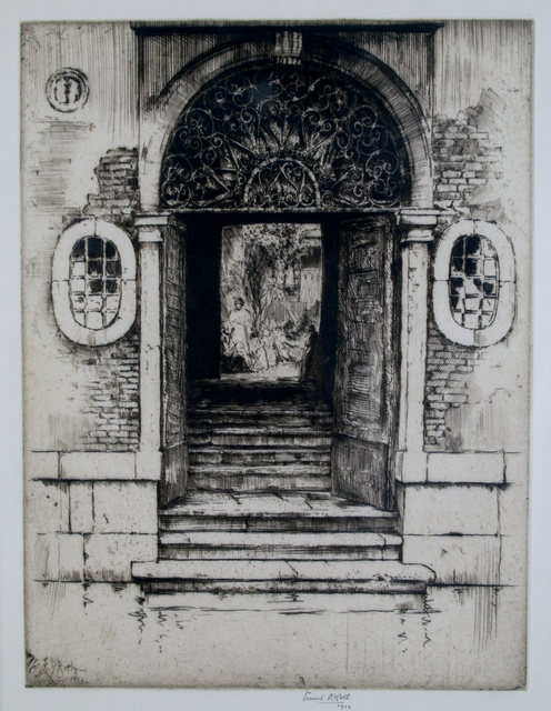 Ernest David Roth, 'Shadowed Doorway, Venice', 1914, Private Collection, NY