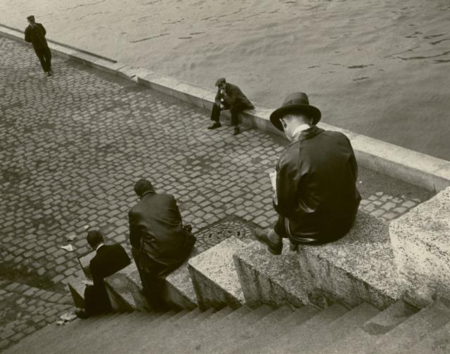 , 'Three Men Sitting on Steps at the Seine, Paris,' 1931, Edwynn Houk Gallery