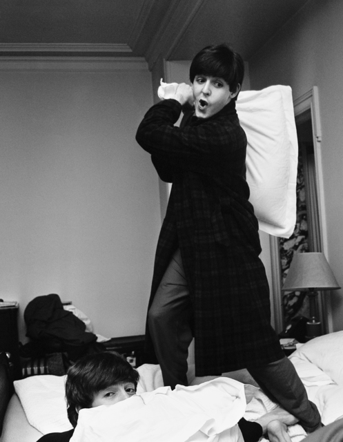 , 'Paul hits John, Pillow Fight, George V Hotel, Paris,' 1964, Contessa Gallery