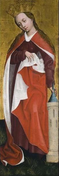Unknown Artist, 'Saint Barbara', ca. 1460, Davis Museum