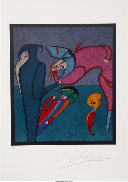 Mihail Chemiakin, 'Whispers from Carnival of St. Petersburg Suite', circa 1980, Heritage Auctions
