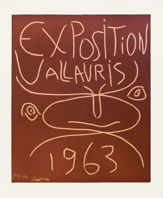 Pablo Picasso, 'Exposition Vallauris 1963', 1963, Gow Langsford Gallery