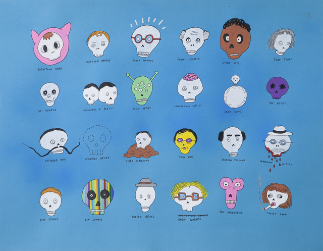Laurina Paperina, 'Artists Skulls', 2012, Erdmann Contemporary