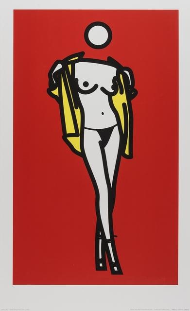 Julian Opie, 'Woman taking off man's shirt (Cristea p.244)', 2003, Forum Auctions