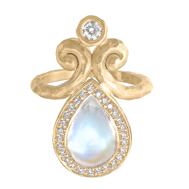 , 'One of a Kind Rainbow Moonstone & Diamond Ring,' 2017, Szor Collections