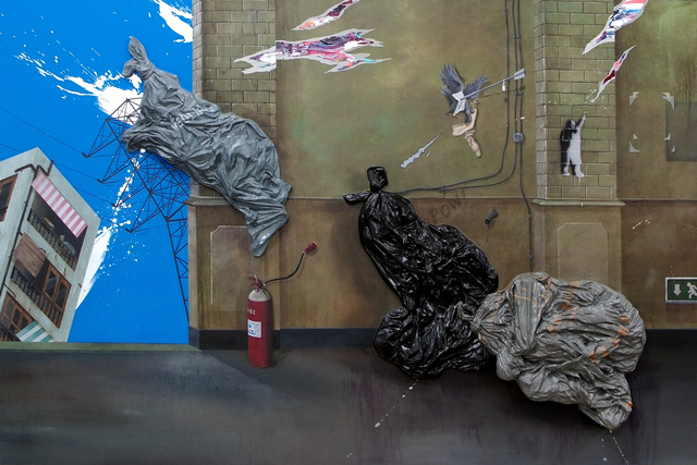 , 'Three Bin Bags,' 2012, Gana Art