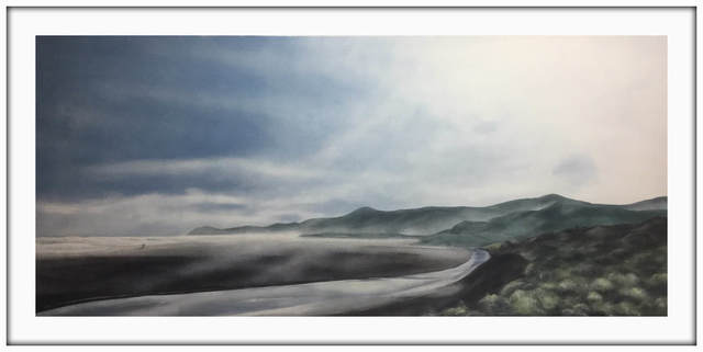 Terry Prince, 'A Morning Walk, North Piha', 2020, Painting, Acrylic on Canvas, Framed, Black Door Gallery