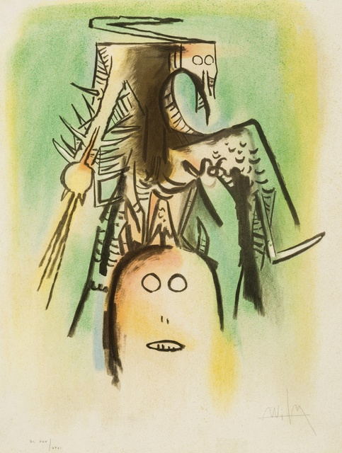 Wifredo Lam, 'Untitled', 1973, Print, Lithograph printed in colours, Forum Auctions