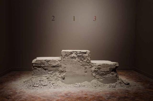 , 'Podio para ninguém, from the project Zona de Instabilidade,' 2010, Galeria Jaqueline Martins