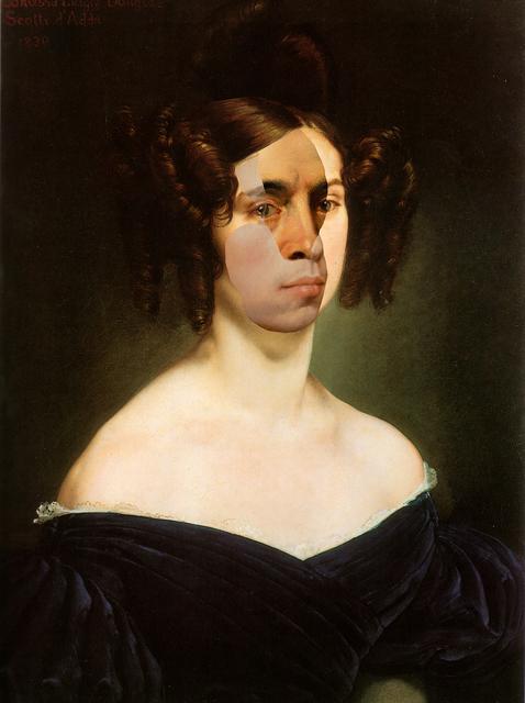 Artemis Potamianou, 'The Unknown Masterpiece: Portrait of Countess Luigia Douglas Scotti d'Adda', 2018, Mixed Media, Collage (printed canvas, c-prints), IFAC Arts