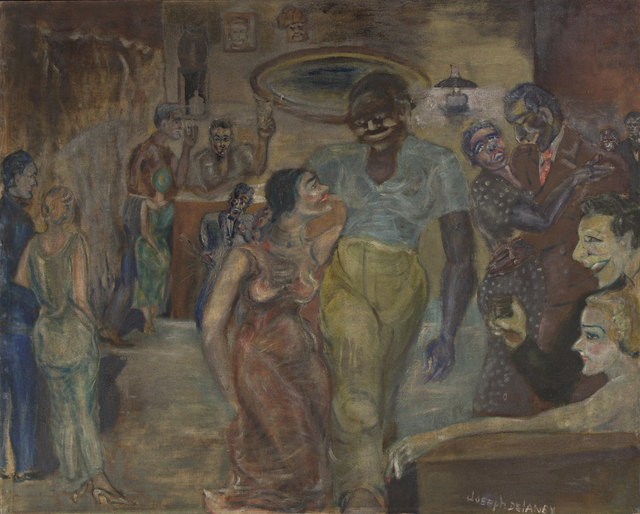 Joseph Delaney, 'Artist's Studio Party', 1940, Painting, Oil on linen canvas, Swann Auction Galleries