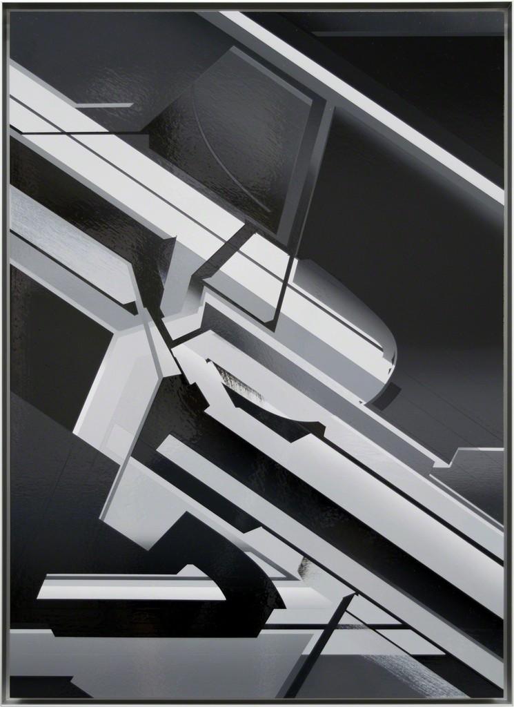 Marc von der Hocht, 'Proton', 2018, 72 x52 cm, high gloss enamel on aluminium; photo: Marc von der Hocht