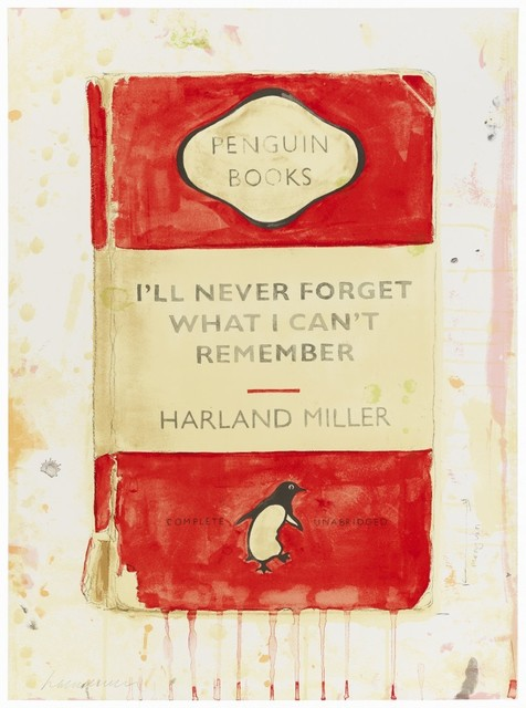Harland Miller, 'I'll Never Forget What I Can't Remember ', 2015, Maddox Gallery