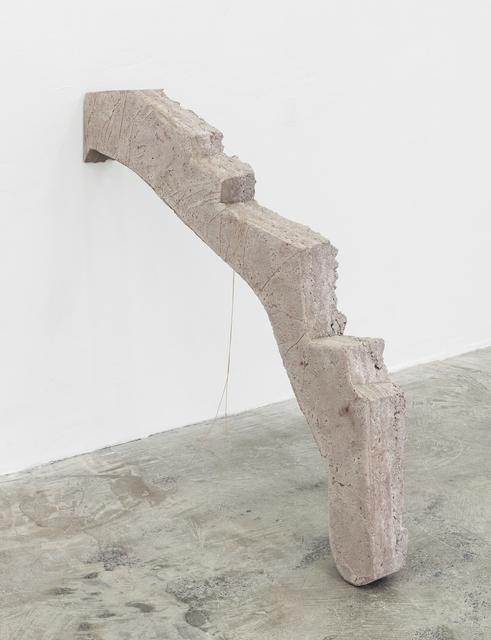 , 'Phones (pillar / three silver strings, two golden strings),' 2015, DREI