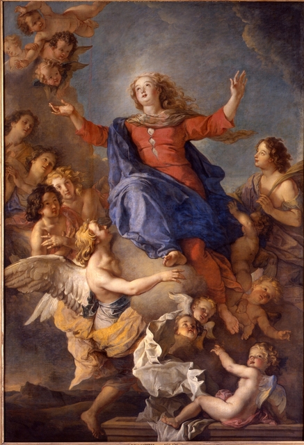 Charles de La Fosse, 'L'assomption de la Vierge (The Assumption of the Virgin)', 17th century, Château de Versailles
