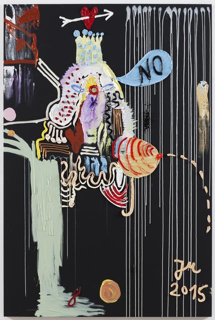 , 'DIES IST DIE MIT DEN GEILSTEN SCHLAGOBERS-HOSEN MIT BITTER END,' 2015, Tim Van Laere Gallery
