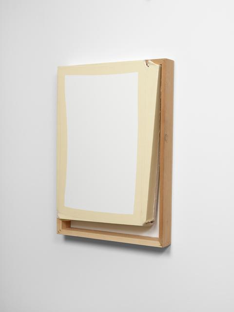 Angela de la Cruz, 'Tight (White/Off White)', 2013, Galerie Thomas Schulte