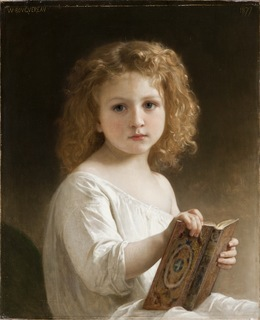 William-Adolphe Bouguereau, 'The Story Book', 1877, Los Angeles County Museum of Art
