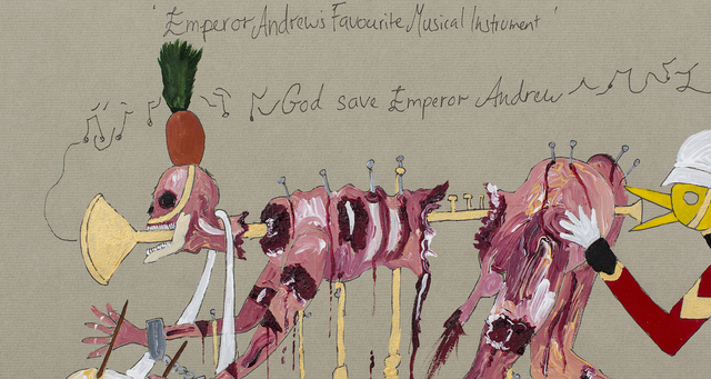 , 'Emperor Andrew's favourite new Musical Instrument,' 2015, Sperling