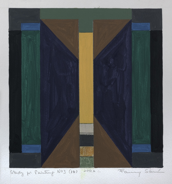Fanny Sanin, 'Study for Painting No. 3 (10), 2006', 2006, Sicardi | Ayers | Bacino
