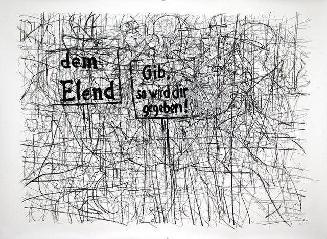 , 'Film 3 Groschen Oper (1910) in One Drawing,' 2014, Galerie Tore Suessbier