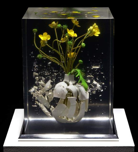 Tom Martin, 'The Time is Now VII', 2020, Sculpture, Resin, ceramic, artificial flowers and stainless steel, Plus One Gallery