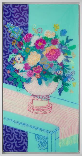 , 'Floral on Teal No. 3 ,' 2017, Rebecca Hossack Art Gallery