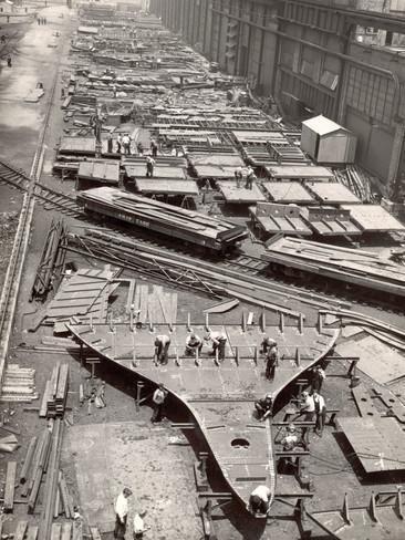 Margaret Bourke-White, 'Construction Yard of the Bethlehem Ship Building Corporation, Sparrows Point, Maryland, USA', 1937, Huxley-Parlour