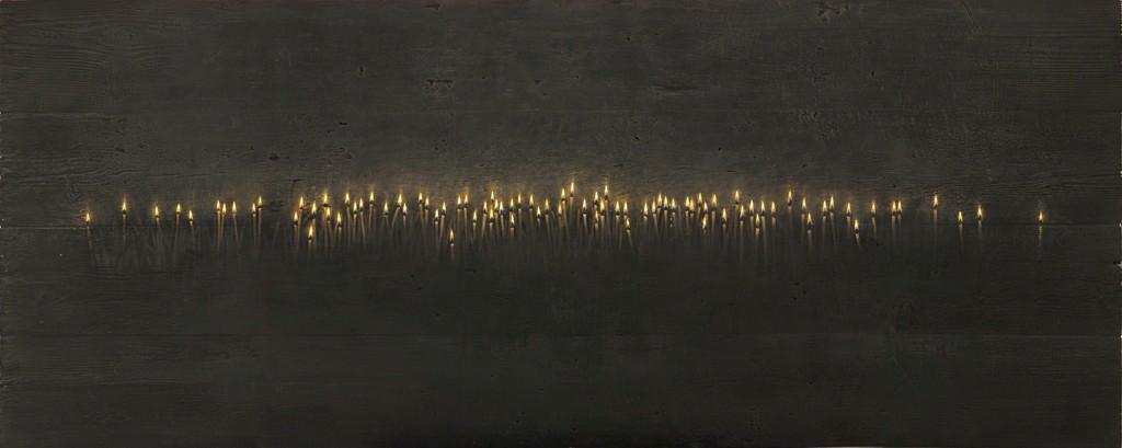 Christos Bokoros - Κεριά (το μέτωπο της μνήμης), 2012. Photography: Christos Simatos
