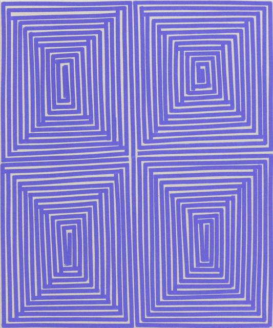 , 'Lt Blu Violet Coffer (Geo),' 2014, Newzones