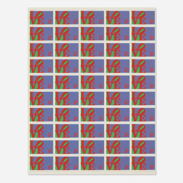 After Robert Indiana, 'Love postage stamps', c. 1973, Wright