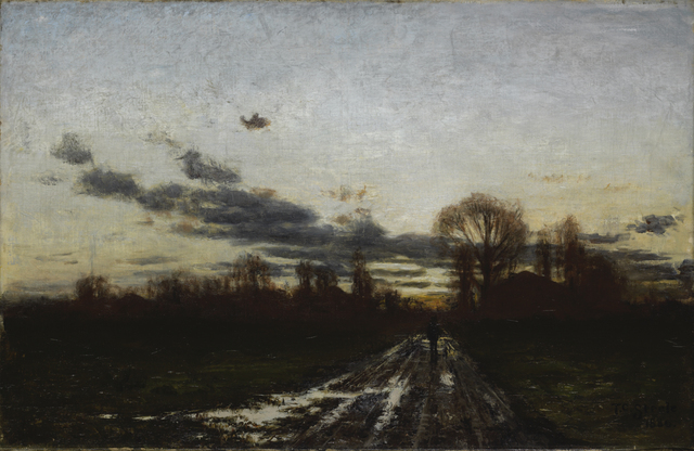 """Theodore Clement """"T.C."""" Steele, 'Sunrise ', 1886, Painting, Oil on canvas, Indianapolis Museum of Art at Newfields"""