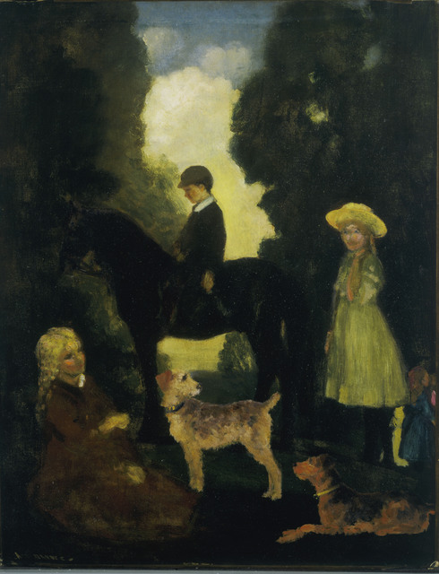 Arthur Bowen Davies, 'Children, Dogs and Pony', 1905, Phillips Collection