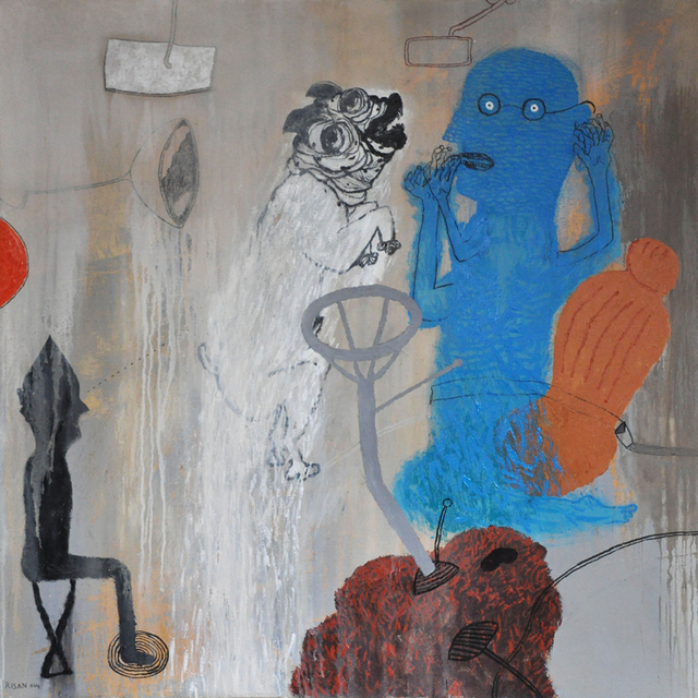 , 'Blue Man and White Dog,' 2014, Meem Gallery