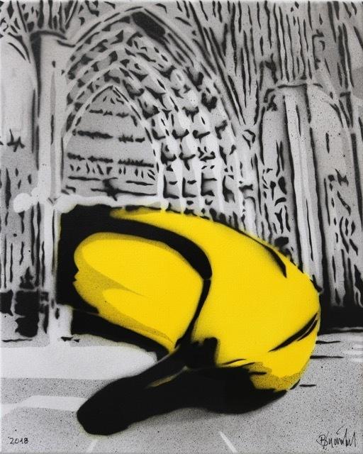 Bananensprayer Thomas Baumgärtel, 'Banane im Dom', 2003, Galerie Kronsbein