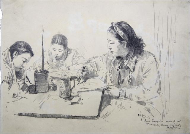 , 'Choi Seunghee Planning Her Activities,' 1954, Hakgojae Gallery