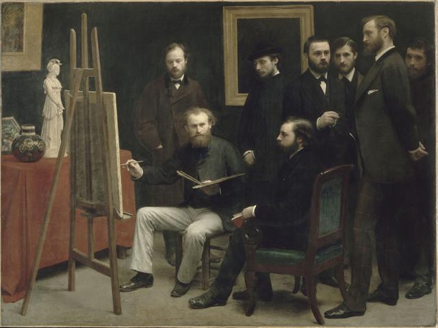 , 'Un Atelier aux Batignolles,' 1870, Musée du Luxembourg