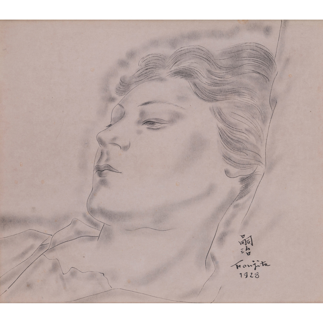 Léonard Tsugouharu Foujita, 'Portrait of a young woman', 1928, PIASA