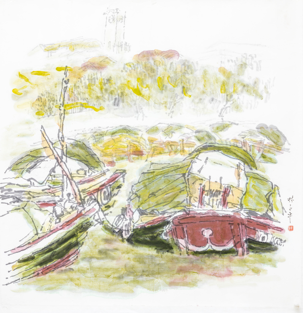 Lim Tze Peng, 'Bumboats on the Singapore River', 1980-1990s, Ode to Art