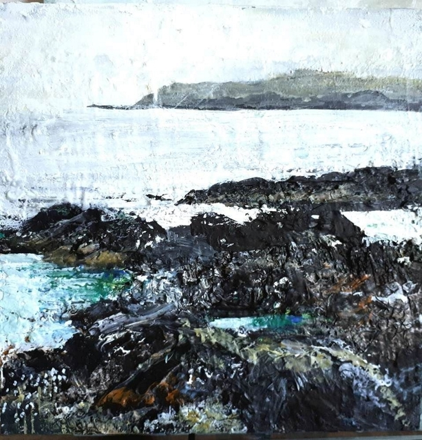 , 'Misty Day, North Beach (Isle of Iona),' 2018, Lime Tree Gallery