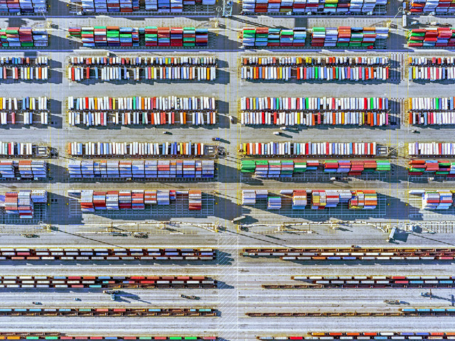 Jeffrey Milstein, 'Container Port 29', 2014, Bau-Xi Gallery